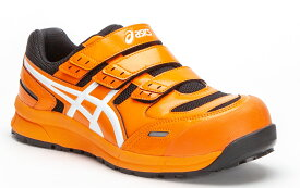 【限定カラー 800ラヴァオレンジ×ホワイト】FCP102 アシックスの安全靴 ウィンジョブCP102 マジック止めの作業靴 (JSAA A種 樹脂先芯)