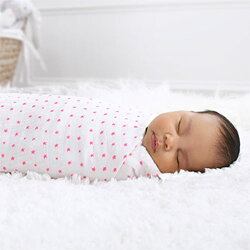 スワドル(おくるみ)【出産祝い・出産準備】モスリンラップクラッシックコレクション2枚組fluropink