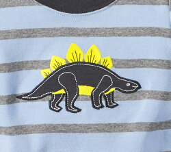 カーターズ3点セット恐竜Tシャツ&ボディースーツ白&パンツダークグレー/サーフパンツ