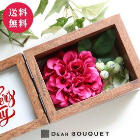 母の日ギフト 花 フォトフレーム 3000円台 誕生日 写真 プレゼント L判写真対応