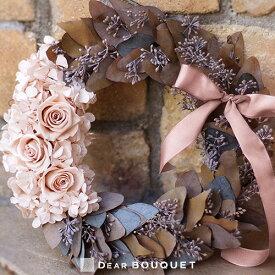 ユーカリ リース 玄関 ドアリース ギフト 結婚祝い 壁掛け 誕生日プレゼント 飾り 開店祝い オープン お祝い 内祝い プリザーブドフラワー おしゃれ かわいい ピンク(直径25cm)
