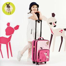 レッシグ リトルツリーファウン 子供用キャリーバッグ(スーツケース キャリーケース 旅行バッグ) トローリー ソフトケース(ポリエステル) カラー(ピンク) 機内持込み 18リットル 18l プレゼント