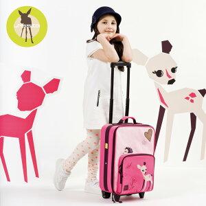 レッシグ リトルツリーファウン 子供用キャリーバッグ(スーツケース キャリーケース 旅行バッグ) トローリー ソフトケース(ポリエステル) カラー(ピンク) 機内持込み 18リットル 18l プレ