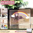 【ペット位牌】キャトル クリスタル イラストtype ペットメモリアル ペット供養 犬 猫 うさぎ 小動物 ガラス かわいい…