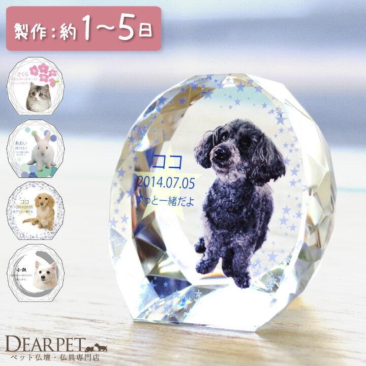 【ペット仏具】【ペット位牌】セレクトクリスタル ミニペットメモリアル ペット供養 犬 猫 ガラス かわいい きれい ミニ 犬の位牌 猫の位牌 お供え 丸 ラウンド ガラス