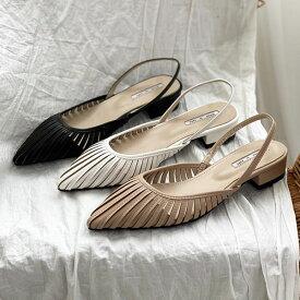 サンダル バックストラップ シースルー ローヒール ポインテッドトゥ レディース 黒 白 ブラック ホワイト ベージュ 婦人靴 歩きやすい パンプスセール品につき、返品・交換は一切受け付けておりません