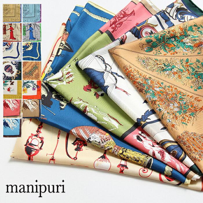 manipuri マニプリ シルクバンダナスカーフ 65cm x 65cm 【新色・新柄入荷】