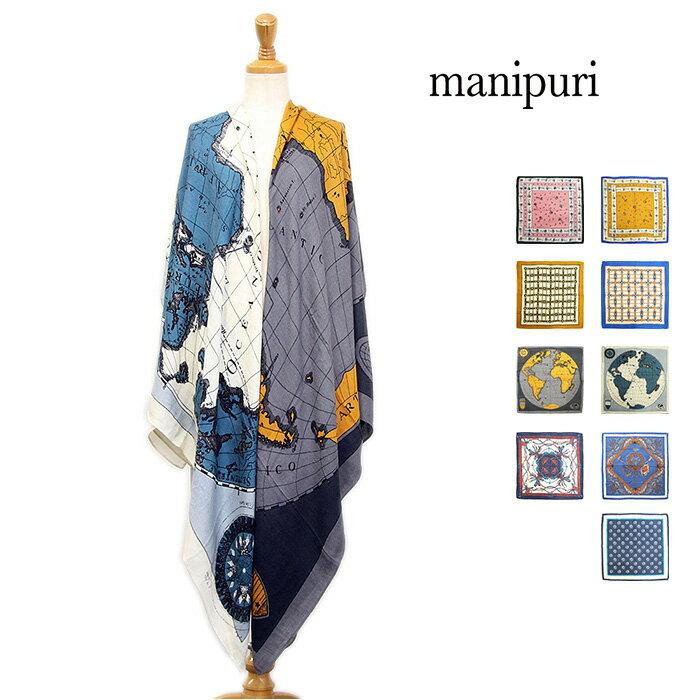 manipuri マニプリ シルクウールスカーフ shawl 118cm×113cm