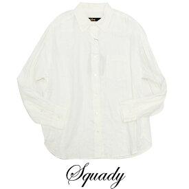 【SALE☆6】Squady スカディ リネンシャツ EW-9200-2