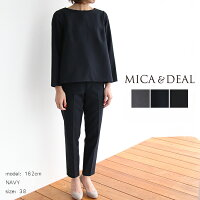 MICA&DEALマイカアンドディールバックタックパンツセットアップD14A0013