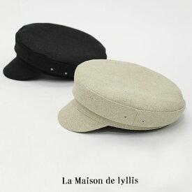 【SALE☆3】La Maison de Lyllis ラメゾンドリリス リネンフィッシャーマンキャップ 2201007