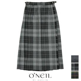 ONeil of Dublin オニールオブダブリン ウールプリーツ巻きスカート 5073W