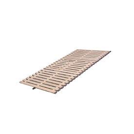 【代引き・同梱不可】立ち上げ簡単! 軽量桐すのこベッド 3つ折れ式 セミシングル KKT-80