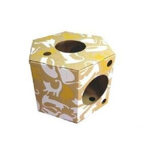 【代引き・同梱不可】組立式ダンボール製キャットハウス にゃんだ〜ランド プレイボックスかわいい 猫小屋 ダンボール