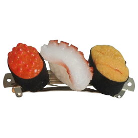 【代引き・同梱不可】日本職人が作る 食品サンプル バレッタ ミニ寿司3貫セットC(たこ・うに・いくら) IP-400