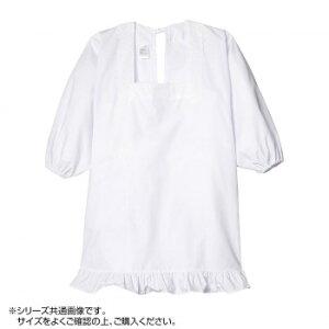 【代引き・同梱不可】RANY ラニー 割烹着 和装かっぽう 角襟 裾レース ポケット付き レディース ホワイト M 34577-70000