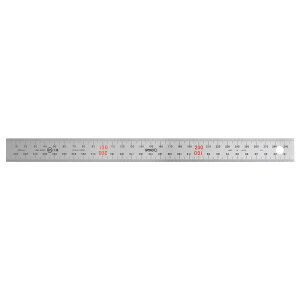 【代引き・同梱不可】ステンレス定規 ユニオン直尺 30cm型 1-831-0030