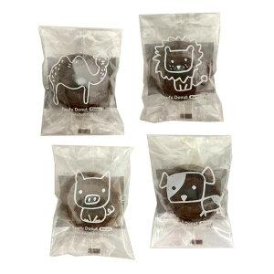 【代引き・同梱不可】どうぶつ とうふドーナツ ココア 1P(30袋)豆腐 洋菓子 おやつ