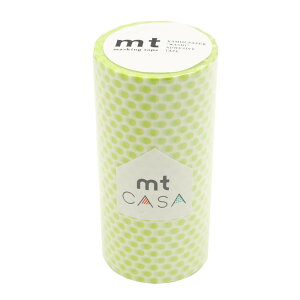 【代引き・同梱不可】mt CASA マスキングテープ 100mm ドット・ライム MTCA1103
