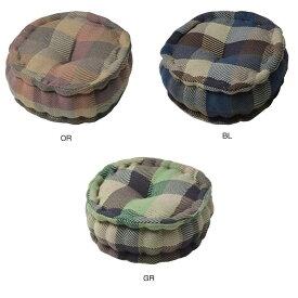 【代引き・同梱不可】インド綿ウール混ラウンドクッション メルモ 約Φ35×15cm