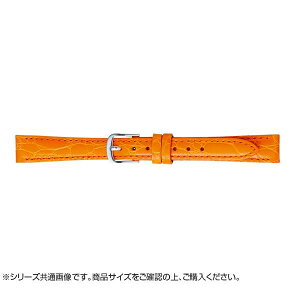 【代引き・同梱不可】BAMBI バンビ 時計バンド 牛革型押し オレンジ(美錠:白) BK017O-I