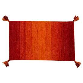 【代引き・同梱不可】ギャッベ マット・ラグ GABBEH Gradation OR 約45×75cm 270066511