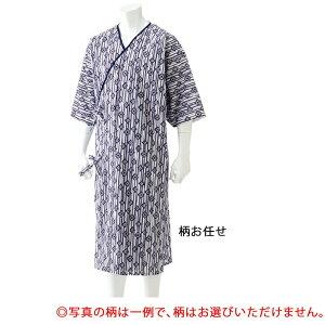 【代引き・同梱不可】らくらくガーゼねまき(紳士) 柄お任せ M 3886601パジャマ シニア ナイトウェア