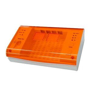 【代引き・同梱不可】補聴器用乾燥・UV消毒器 オレンジ