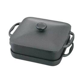 【代引き・同梱不可】岩鋳 南部鉄器 スクエアパン浅型鍋・深型鍋セット(焼付) 21700