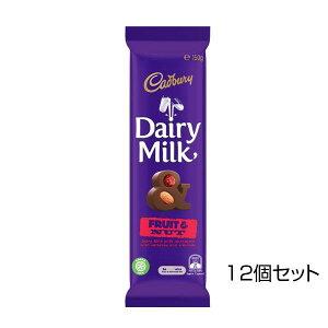 【代引き・同梱不可】キャドバリー デイリーミルクチョコレート フルーツ&ナッツ 150g×12個セット