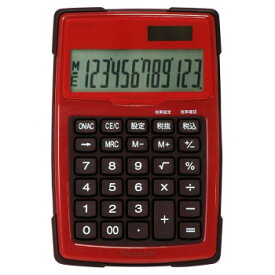 【代引き・同梱不可】ナカバヤシ 電卓デスクトップ 防水タイプ S レッド ECD-WR01RD