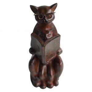 【代引き・同梱不可】彩か(SAIKA) 勤勉親子 Cat(猫) ブックエンド CCI-43