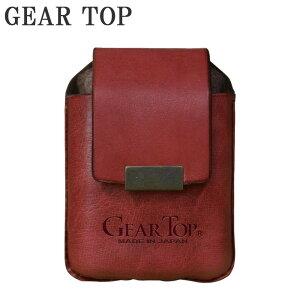 【代引き・同梱不可】GEAR TOP オイルライター専用 革ケース ベルト通し付 GT-203 RD