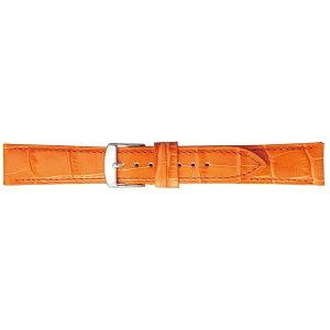 【代引き・同梱不可】BAMBI バンビ 時計バンド バンビ 牛革型押し オレンジ BK109O-N