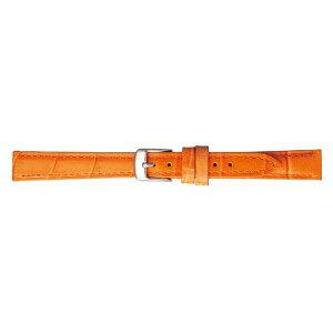 【代引き・同梱不可】BAMBI バンビ 時計バンド バンビ 牛革型押し オレンジ BK009O-F