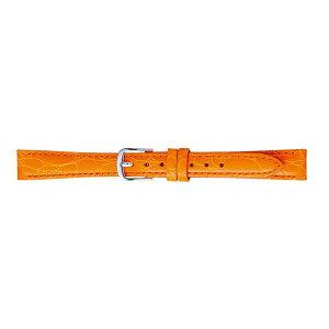【代引き・同梱不可】BAMBI バンビ 時計バンド バンビ 牛革型押し オレンジ BK017O-L