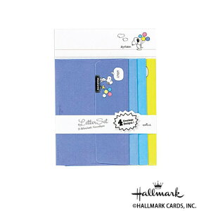 【代引き・同梱不可】Hallmark ホールマーク スヌーピー 便箋封筒セット カラーバルーン 6セット 686864