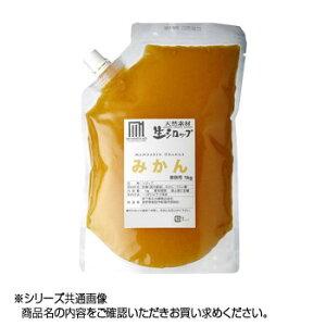 【代引き・同梱不可】かき氷生シロップ みかん 業務用 1kg 3パックセット