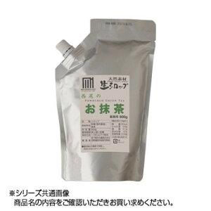 【代引き・同梱不可】かき氷生シロップ 西尾のお抹茶 業務用600g 3パックセット