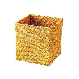 【代引き・同梱不可】かのりゅう Pandan(パンダン) 和 正角屑入れ(ゴミ箱) L17-15-15s