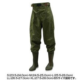 【代引き・同梱不可】オカモト化成品 胴付長靴 ウェダーウエスト 80234作業用 水辺 雨具