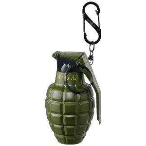 【代引き・同梱不可】グレネード型ターボライター カーキ 71390022カラビナ 手榴弾 おしゃれ