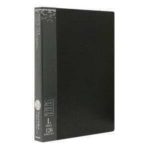 【代引き・同梱不可】ナカバヤシ バインダー式ポケットアルバム 120EX ブラック アS-MY-141-D
