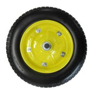 【代引き・同梱不可】一輪車用ソフトノーパンクタイヤ 13インチ SR-1302A-PU(YB)DIY 園芸 庭