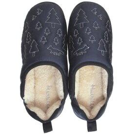 【代引き・同梱不可】Boa slippers(ボアスリッパ) ダウンスリッパ ネイビー Lサイズ(25-27cm) 72178ルームシューズ 部屋履き メンズ