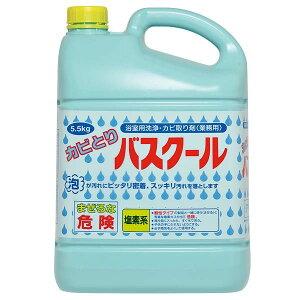 【代引き・同梱不可】業務用 浴室用洗浄・カビ取り剤 カビとりバスクール 5.5kg 3本セット 234035漂白 浴槽 掃除用洗剤