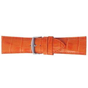 【代引き・同梱不可】BAMBI バンビ 時計バンド バンビ 牛革型押し オレンジ BK111O-W