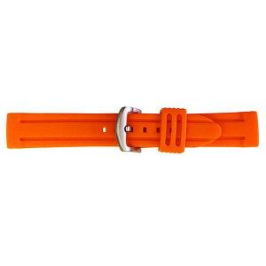 【代引き・同梱不可】BAMBI バンビ 時計バンド バンビ シリコンラバー オレンジ BG007O-S