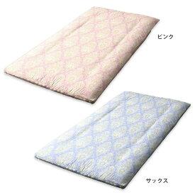 【代引き・同梱不可】メリーナイト 日本製 綿100% 敷き布団カバー セレナーデ ダブルロング 145×215cm