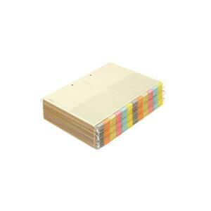 コクヨ カラー仕切カード(ファイル用・12山見出し) A4タテ 2穴 6色+扉紙 シキ-150 1パック(30組)【日時指定不可】
